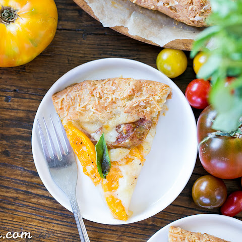 Mozzarella Heirloom Tomato Galette with Parmesan Crust (Gluten Free)