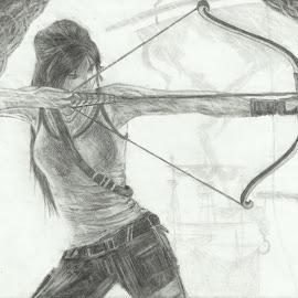 Lara Croft by Eva Stejskalová - Drawing All Drawing