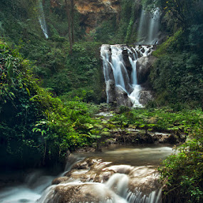 Villa Gregoriana Falls - (Tivoli-Rome-Italy) by Eric Niko - Landscapes Forests ( water, edition, green, waterfall, gregoriana, long, daytime, challenge, rome, nd, falls, italy, tivoli, , renewal, trees, forests, nature, natural, scenic, relaxing, meditation, the mood factory, mood, emotions, jade, revive, inspirational, earthly )