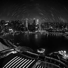 mazing City and Reach the Star by Rudy Amin - City,  Street & Park  Skylines ( cityscapes, marina bay sands, star trails, nightscapes, singapore )