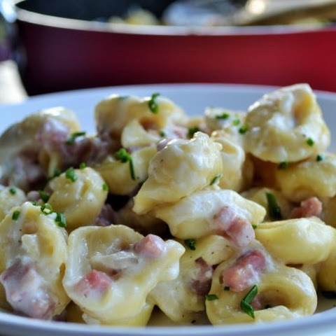 Cheese Tortellini with Ham