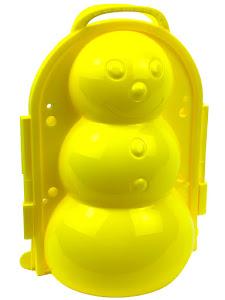 """Форма для лепки снега серии """"Город Игр"""", снеговик XXL, желтый"""