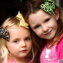 The Two Best Sisters by Cheryl Korotky - Babies & Children Child Portraits