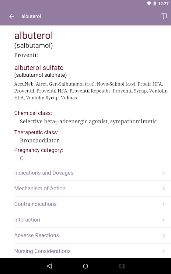 Nurse's Drug Handbook Screenshot 7