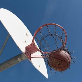Swish... by Gerald Glaza - Sports & Fitness Basketball ( basketball, ball, score, basket, sports, hoop )
