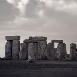 Stone Henge by Krista Stone - Black & White Buildings & Architecture