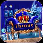 APK App Dragon Throne Keyboard Theme Gold Throne for BB, BlackBerry