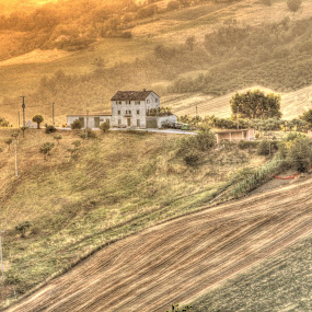 Sunset in Marche's country by John O'Groats - Landscapes Mountains & Hills ( sunset, colmurano, italy, marche, country )
