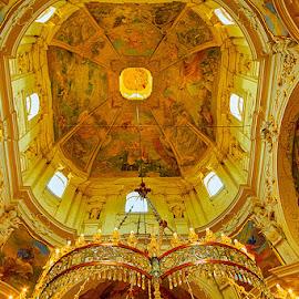 Ceiling by Radu Eftimie - Buildings & Architecture Places of Worship ( fisheye lenses, ceiling, prague, st nicholas' church )