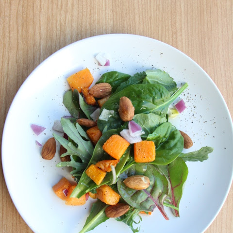 Quick and Healthy Roasted Pumpkin Salad with Honey Lime Dressing 南瓜沙拉 (Vegan, Refined Sugar Free, Oil-Free)