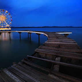 Blue Paradise by Echi Amenk Fariza - Landscapes Waterscapes