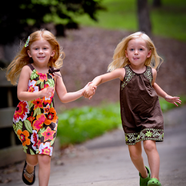 On the Run by Myra Brizendine Wilson - Babies & Children Children Candids ( child, girls, children, summer, children running,  )