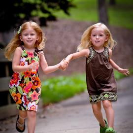 On the Run by Myra Brizendine Wilson - Babies & Children Children Candids ( child, girls, children, summer, children running,  )