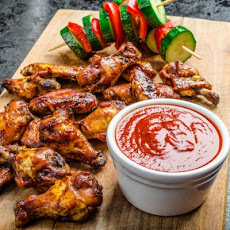 Slow-Cooked BBQ Buffalo Wings
