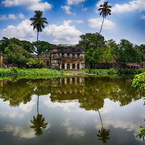 Soshi Lodge Pond Mymensingh by Topu Saha - Buildings & Architecture Public & Historical ( soshi lodge mymensingh, bangladesh, mymensingh, soshi lodge, historical, palace,  )
