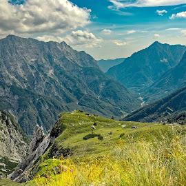 Julian Alps by Michaela Firešová - Landscapes Mountains & Hills ( mountains, valley )