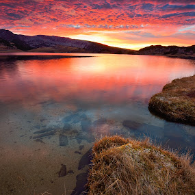 Supernova by Lucian Satmarean - Landscapes Waterscapes ( clouds, mountain, lake, sunrise, light )