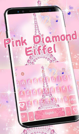 Pink Diamond Eiffel Keyboard Theme screenshot 2