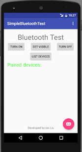 Bluetooth Device Test - screenshot