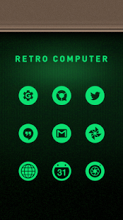 Retro PC Solo Launcher Theme - screenshot