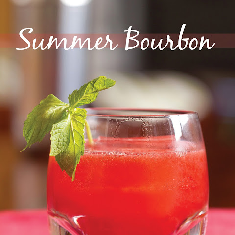 Summer Bourbon Cocktail with Raspberries