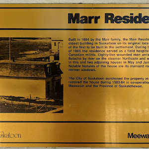 Marr Residence Built in 1994 by the Marr family, the Marr Residence is the oldest building in Saskatoon on its original location and one of the first to be built in the settlement. During the ...