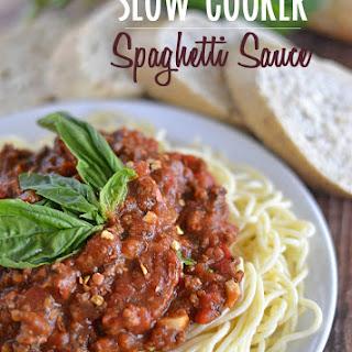 Slow Cooker Spaghetti Sauce Basil Recipes