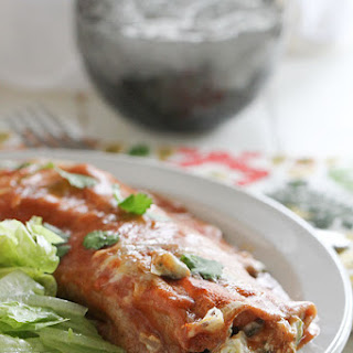 Artichoke and Spinach Enchiladas