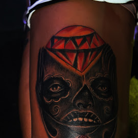 DiamondSkull by Yudo Prasonto - People Body Art/Tattoos ( skull, body parts, art, diamond, body art, tattoo )