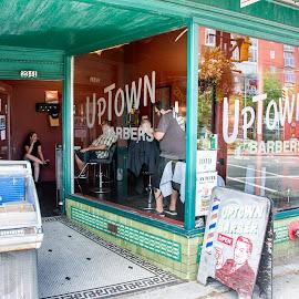 Barber Shop by Gary Dobbin - City,  Street & Park  Markets & Shops ( funky, shops, barber, vancouver, city )