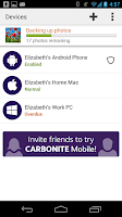 Screenshot of Carbonite Mobile