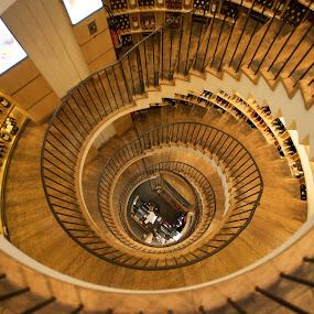 L'Intendant, Bordeaux by Benjamin Arthur - Buildings & Architecture Other Interior ( wine, cru, stairs, stairwell, bordeaux, l'intendant, premier, benjaminarthur.com, france, fine wines, claret, crus )