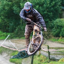 small gap jump by Nick Moor - Sports & Fitness Cycling ( rider, dh, racing, mtb, farmer johns )