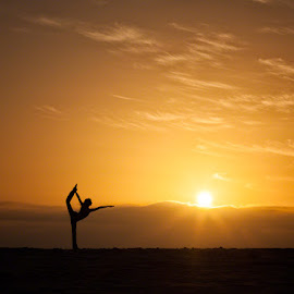 Sunset Dancer by Craig Colvin - People Portraits of Women ( girl, woman, sunset, beach, dance, yoga,  )