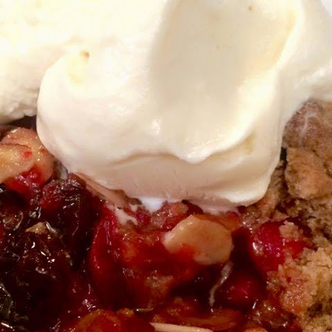 Cranberry-Almond Cobbler for the holidays