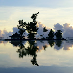 The Reflection by Widiantara Made - Landscapes Waterscapes