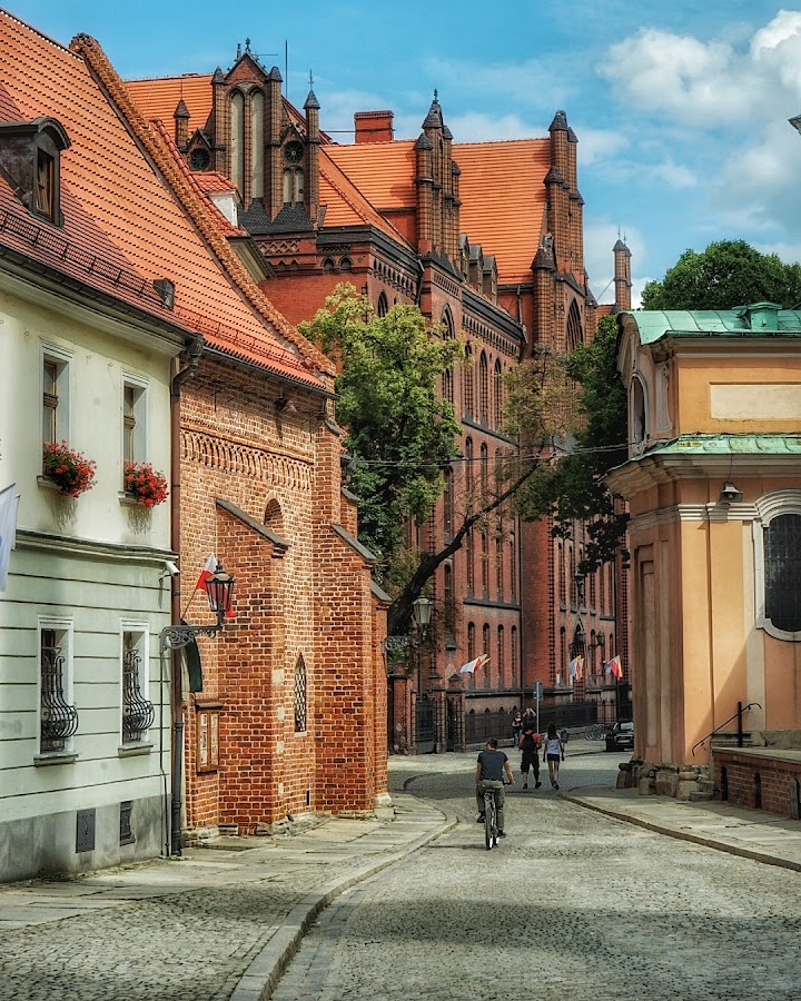 Wroclaw Cathedral Island by Adam Lang - City,  Street & Park  Historic Districts ( cathedral island, cathedral, wroclaw, poland )