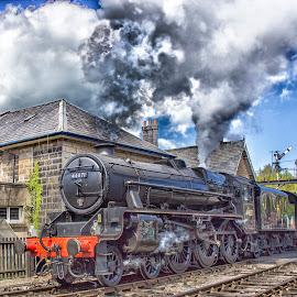 En Route by Dez Green - Transportation Trains ( steam train, nymr, train, relic, historic, steam,  )