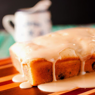 Breakfast Sausage Quick Bread with Maple Glaze