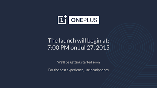 OnePlus 2 Launch Screenshot