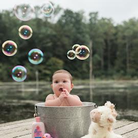 ruba dub dub by Teena Emerson - Babies & Children Babies ( rubber ducky, washtub, bubbles, baby, dock )