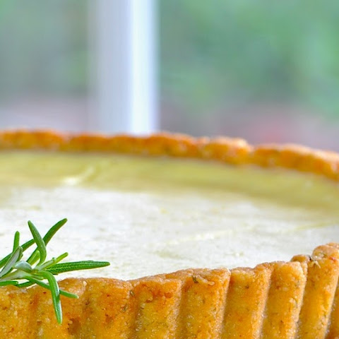 Greek Yogurt Lemon Tart with Rosemary Almond Crust