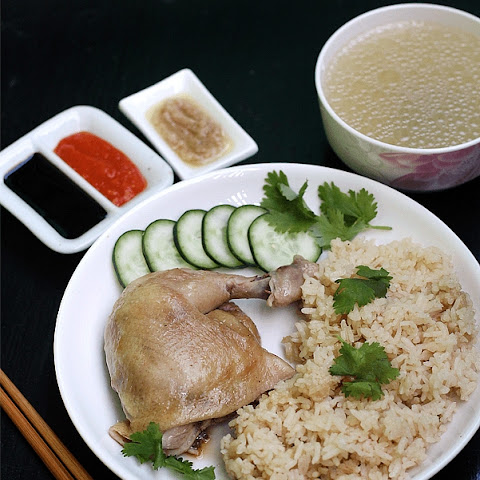 Hainanese Chicken Rice Using Prima Taste Sauce Kit