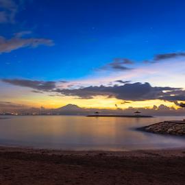First Light by Rio Tanusudiro - Landscapes Beaches ( bali, sky, dawn, blue, travel, beach, sunrise, morning, light )