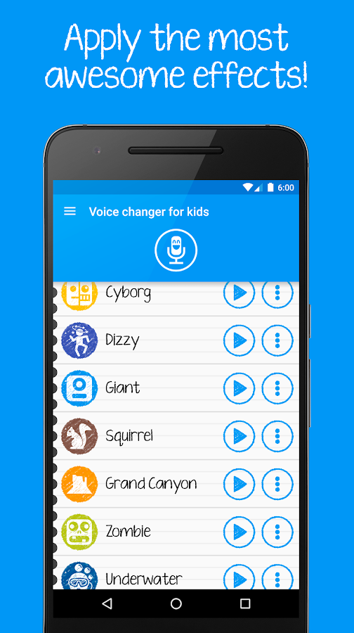 Voice changer for kids Screenshot 2