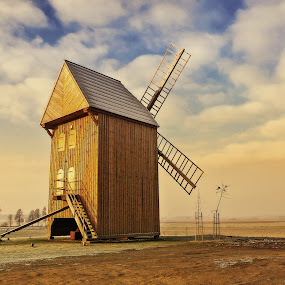 windmill by Tomasz Marciniak - Buildings & Architecture Other Exteriors ( winter, windmill, poland,  )
