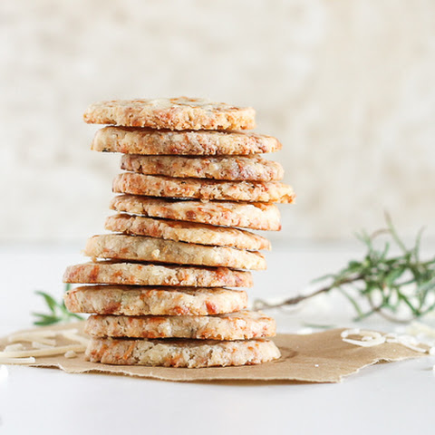 Parmesan Rosemary Shortbread Rounds