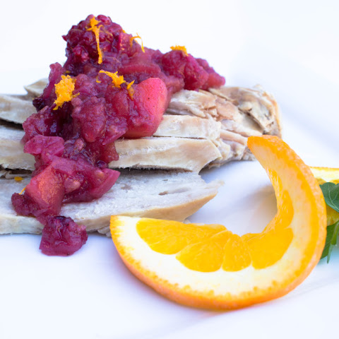 Crockpot Pork Tenderloin w/ Blackberry-Apple Chutney