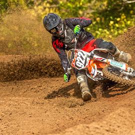 Blasting Turns by Josh Rud - Sports & Fitness Motorsports ( roost, motocross, racing, sports, dirt bike, ktm, motorsports )