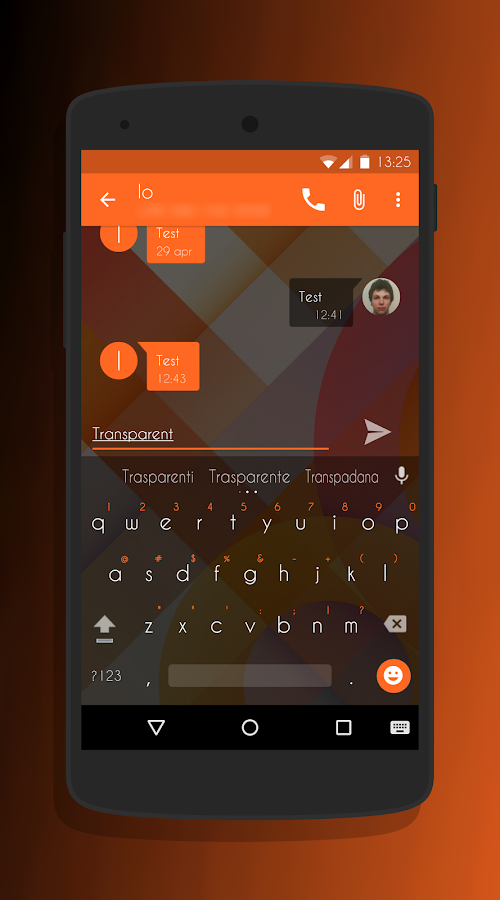 Transparent Orange -CM13 Theme Screenshot 3